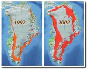 Pencairan es di Greenland dalam satu dekade
