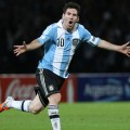 Lionel Messi saat membela negaranya