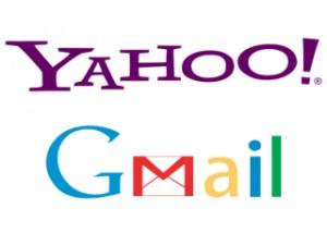Yahoo dan Gmail, dua penyedia layanan email terbesar saat ini