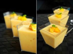 Cara membuat yoghurt pudding mangga