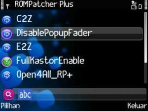 Tema Nokia E63 : tampilan Rompatcher Plus