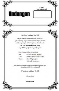 Contoh surat undangan tahlilan