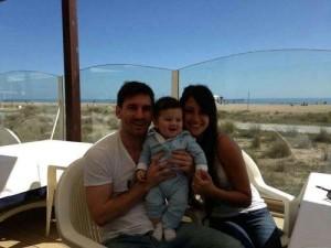 Keluarga kecil Messi