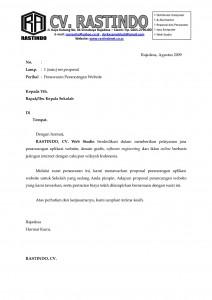 Contoh surat penawaran jasa desain website